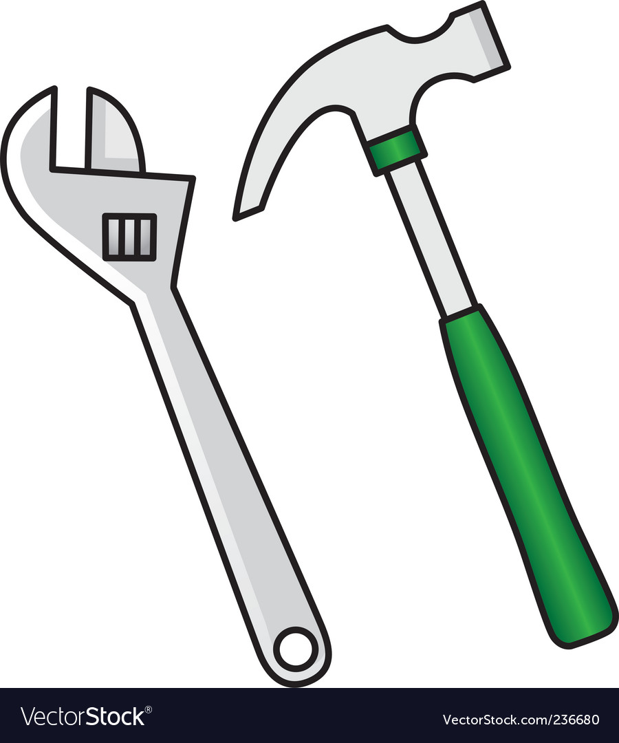 Hammer wrench vector | Price: 1 Credit (USD $1)