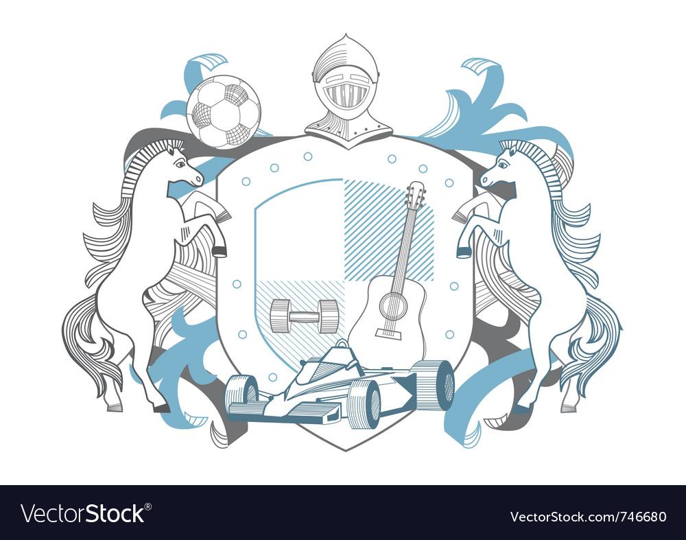 Man emblem vector | Price: 1 Credit (USD $1)