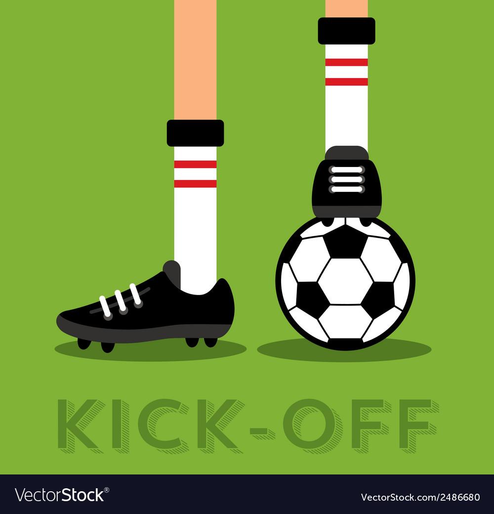 Match kick off vector | Price: 1 Credit (USD $1)