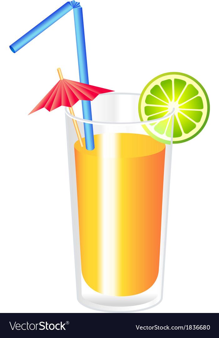 Orange cocktail vector | Price: 1 Credit (USD $1)