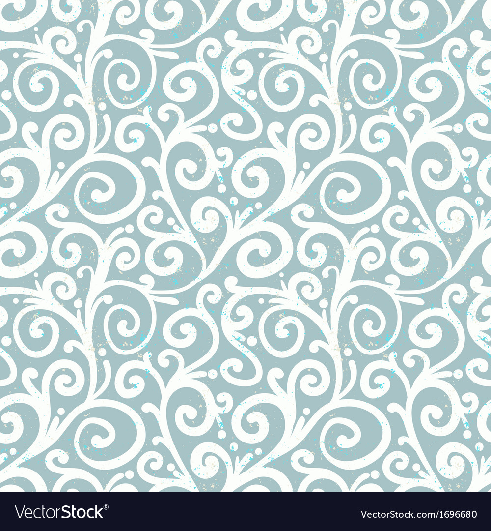 Pattern with waving curls similar to winter frost vector | Price: 1 Credit (USD $1)