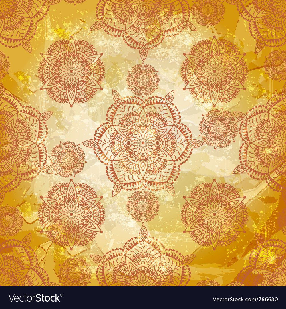 Spring retro seamless floral vector | Price: 1 Credit (USD $1)