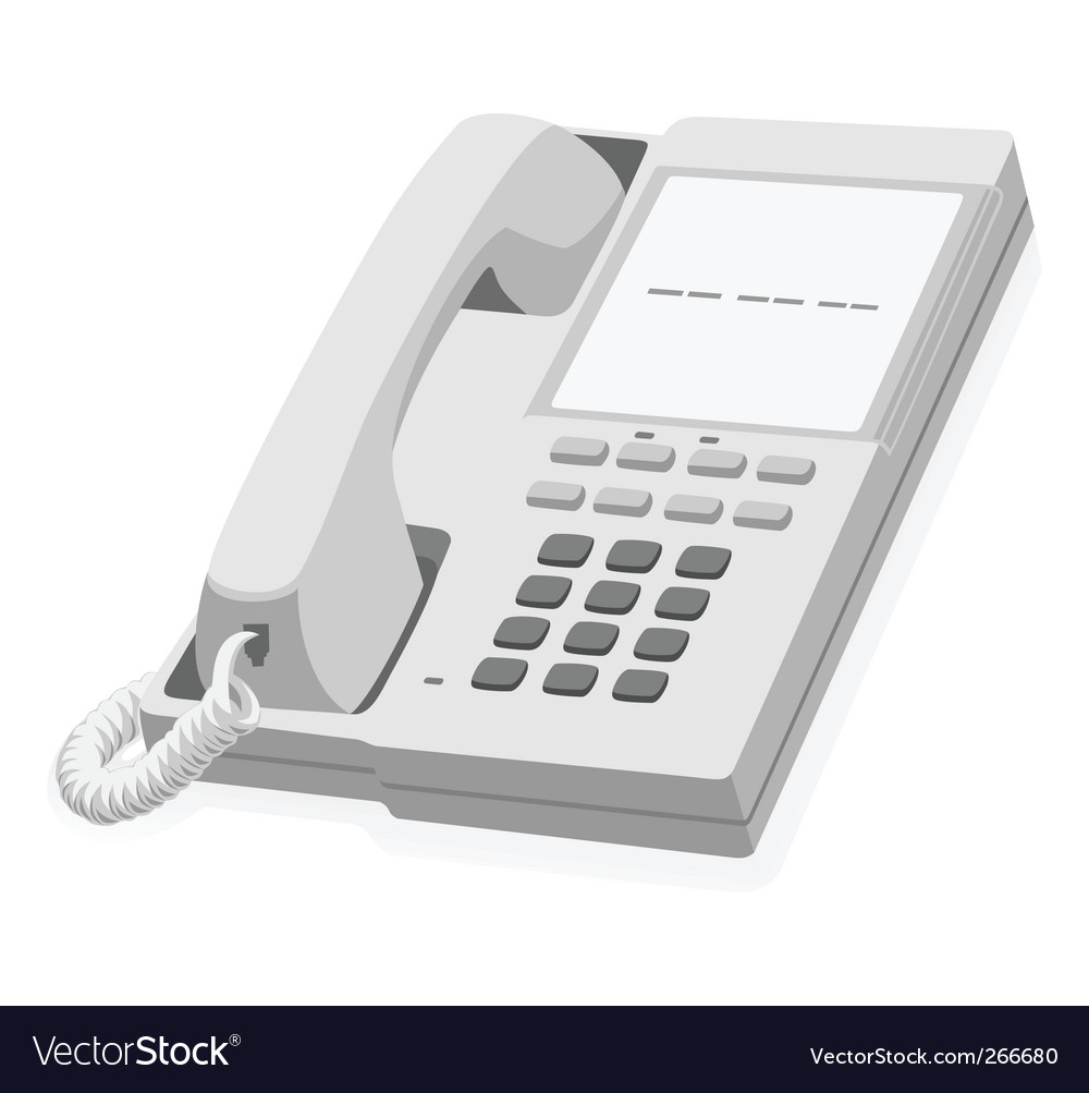 Stationary phone vector | Price: 1 Credit (USD $1)