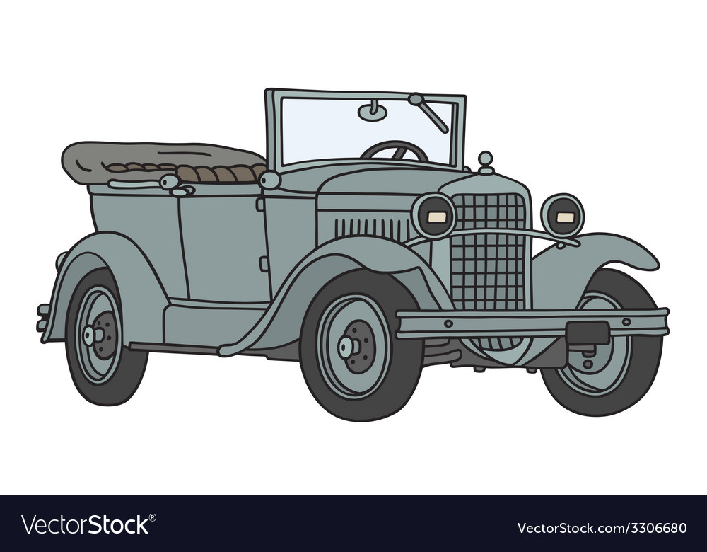 Vintage military car vector | Price: 1 Credit (USD $1)