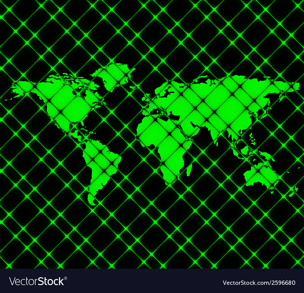 World map web icon flat design vector | Price: 1 Credit (USD $1)