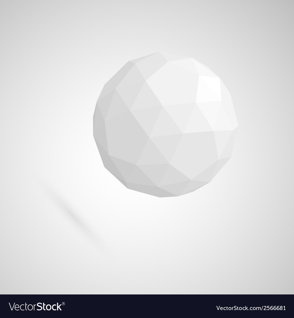 Abstract white sphere made of geometric shapes vector | Price: 1 Credit (USD $1)