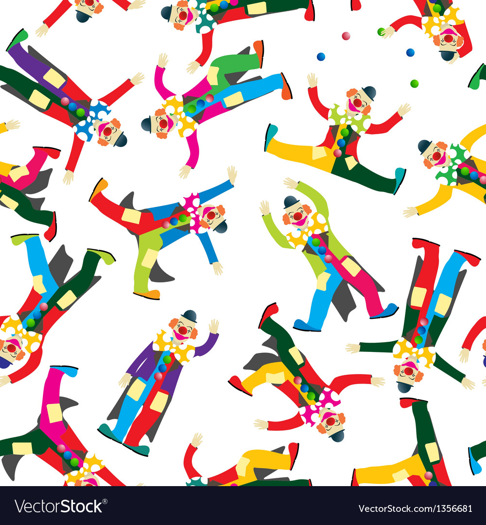 Clown pattern vector | Price: 1 Credit (USD $1)