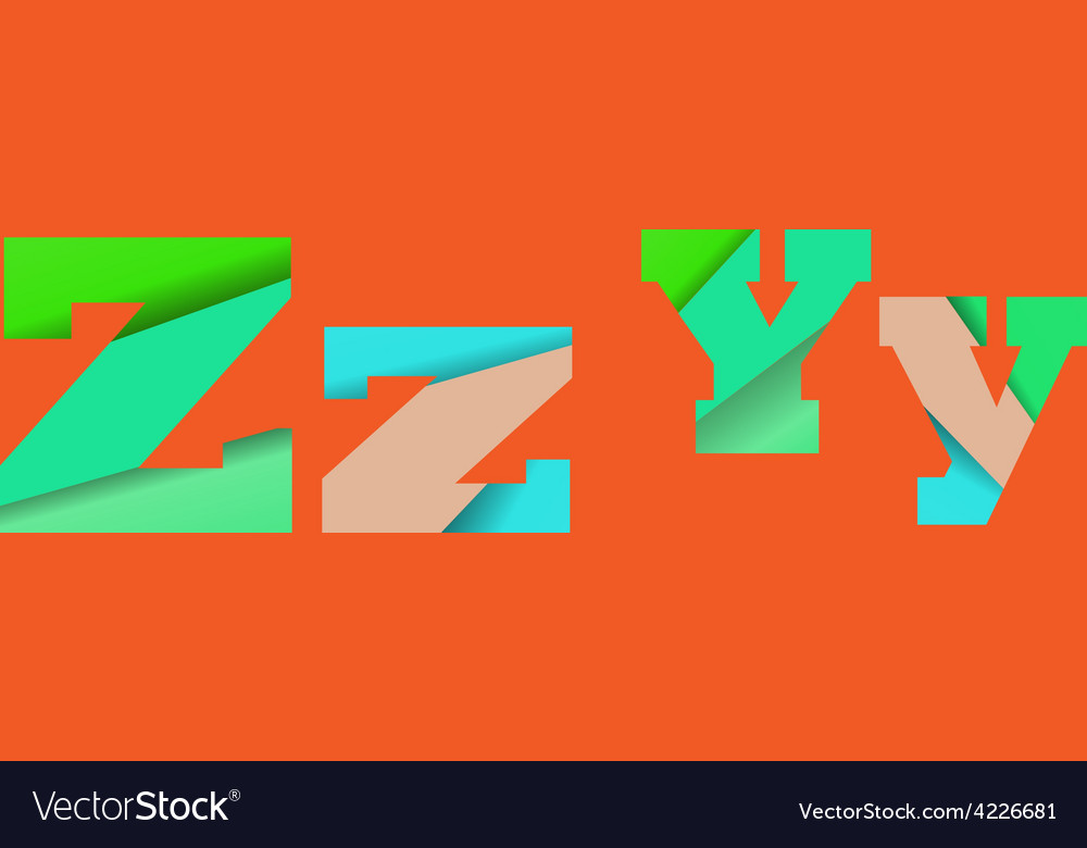 Cut into several parts within font zy vector | Price: 1 Credit (USD $1)