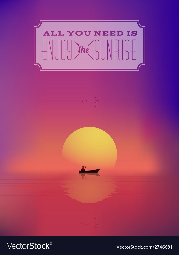 Eastern sunrise seascape abstract background or vector | Price: 1 Credit (USD $1)