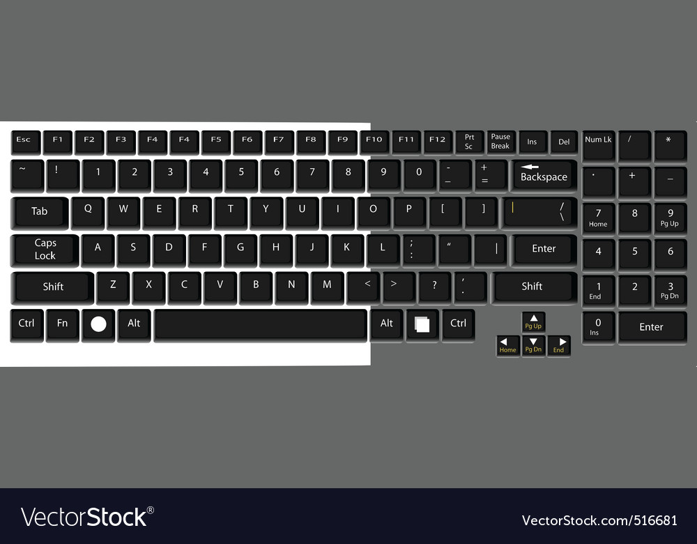 Eyboard laptop computer vector format vector | Price: 1 Credit (USD $1)