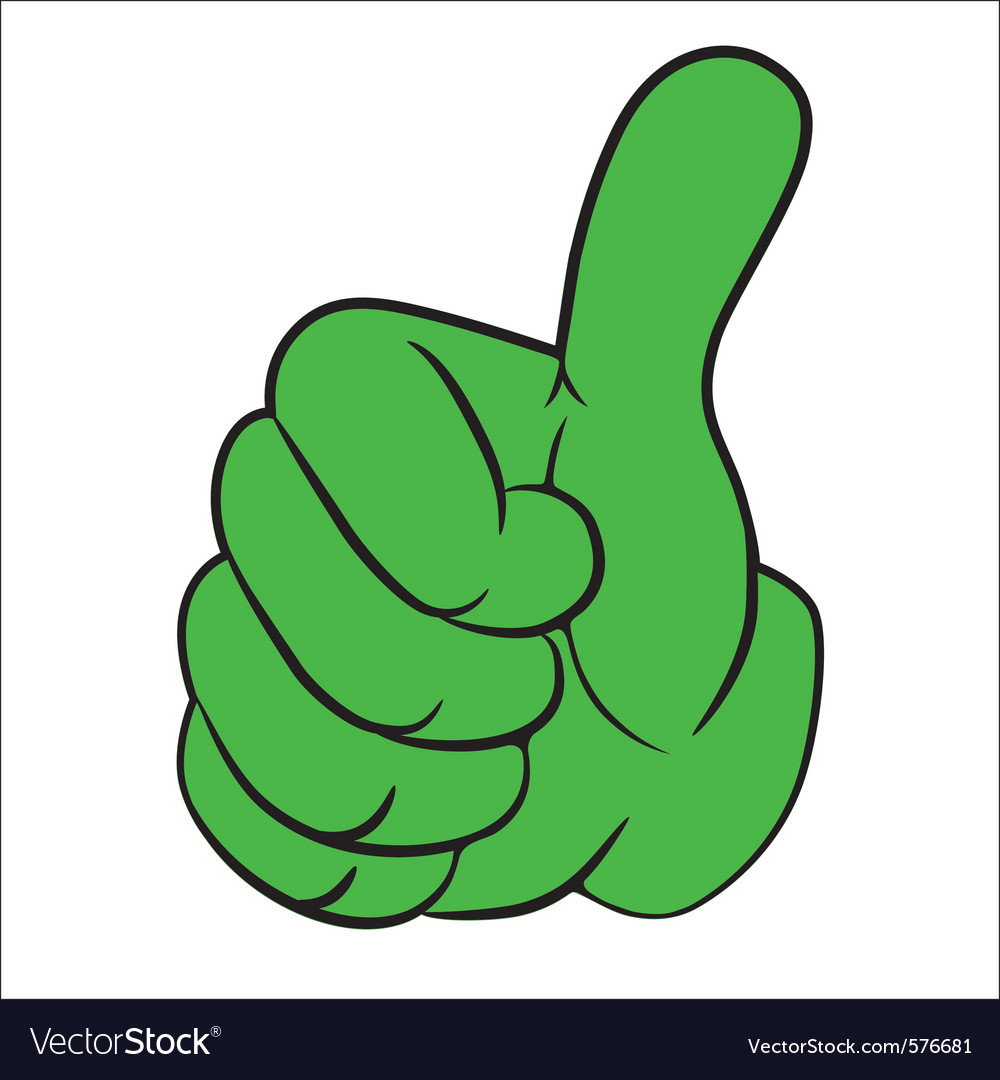 Hand gesture thumbs up vector | Price: 1 Credit (USD $1)