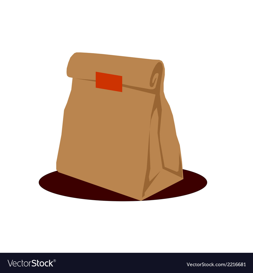 Paper bag packaging vector | Price: 1 Credit (USD $1)
