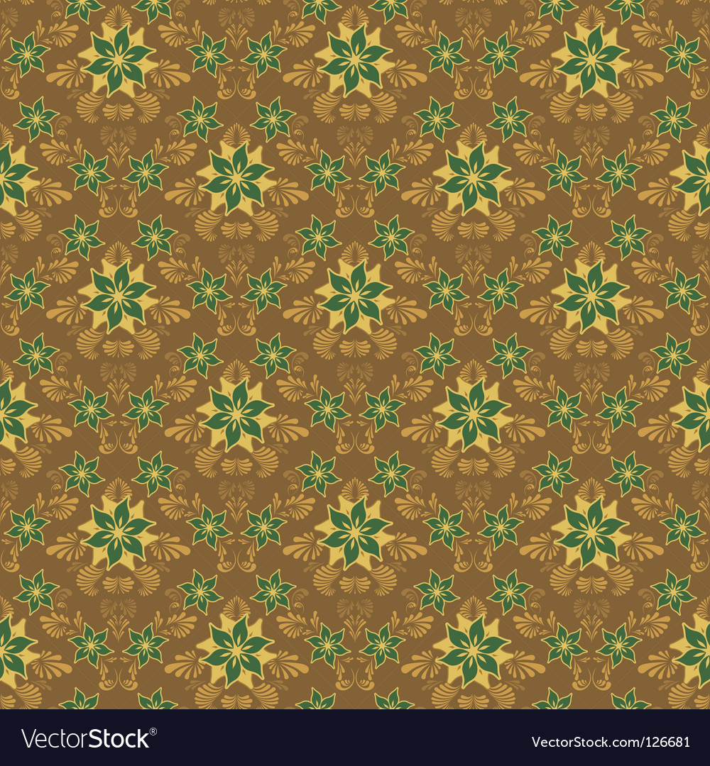 Retro damask background vector | Price: 1 Credit (USD $1)