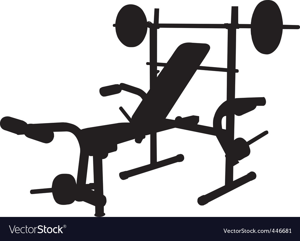 Weight bench vector | Price: 1 Credit (USD $1)