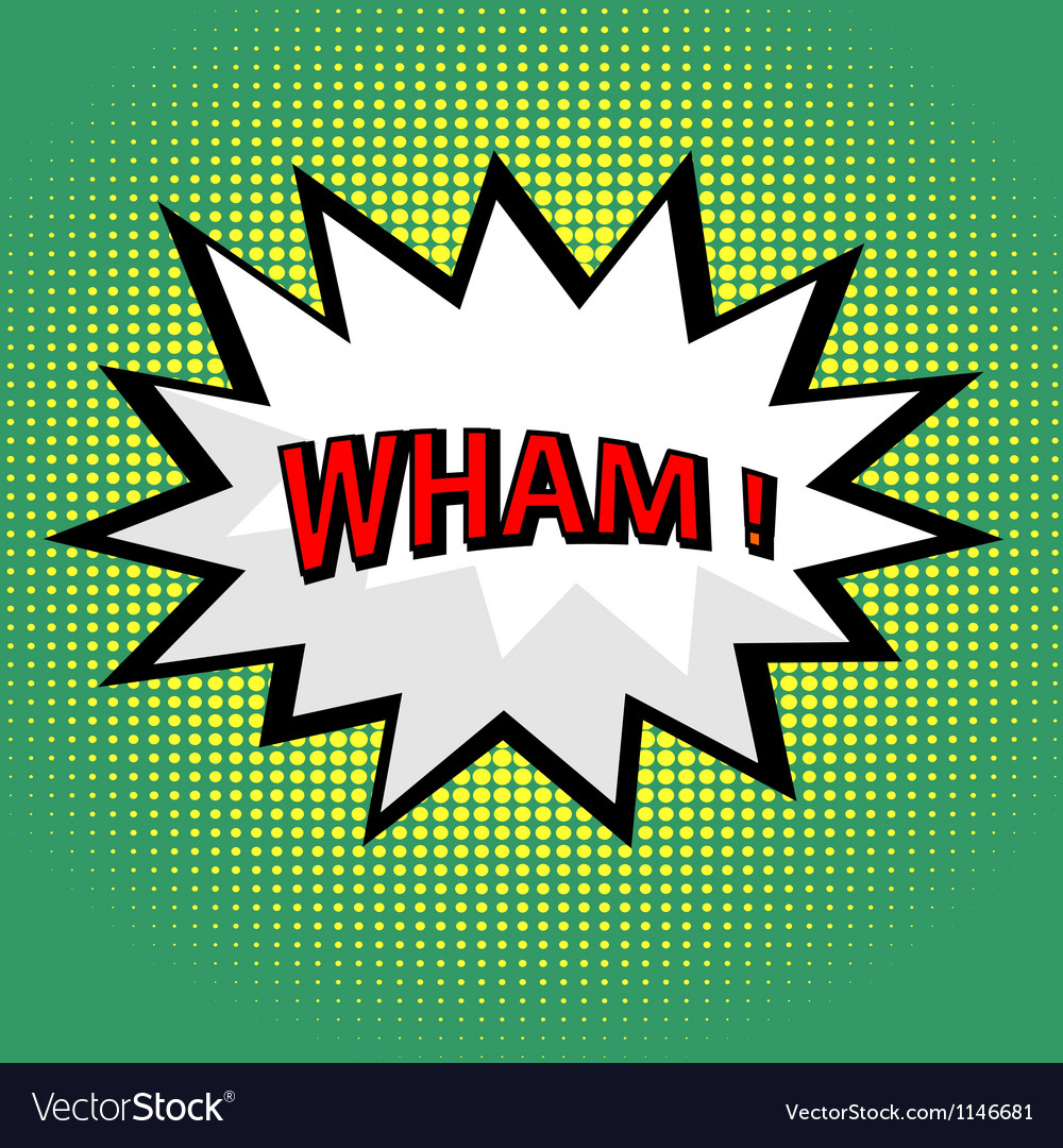 Wham comic cloud in pop art style vector | Price: 1 Credit (USD $1)
