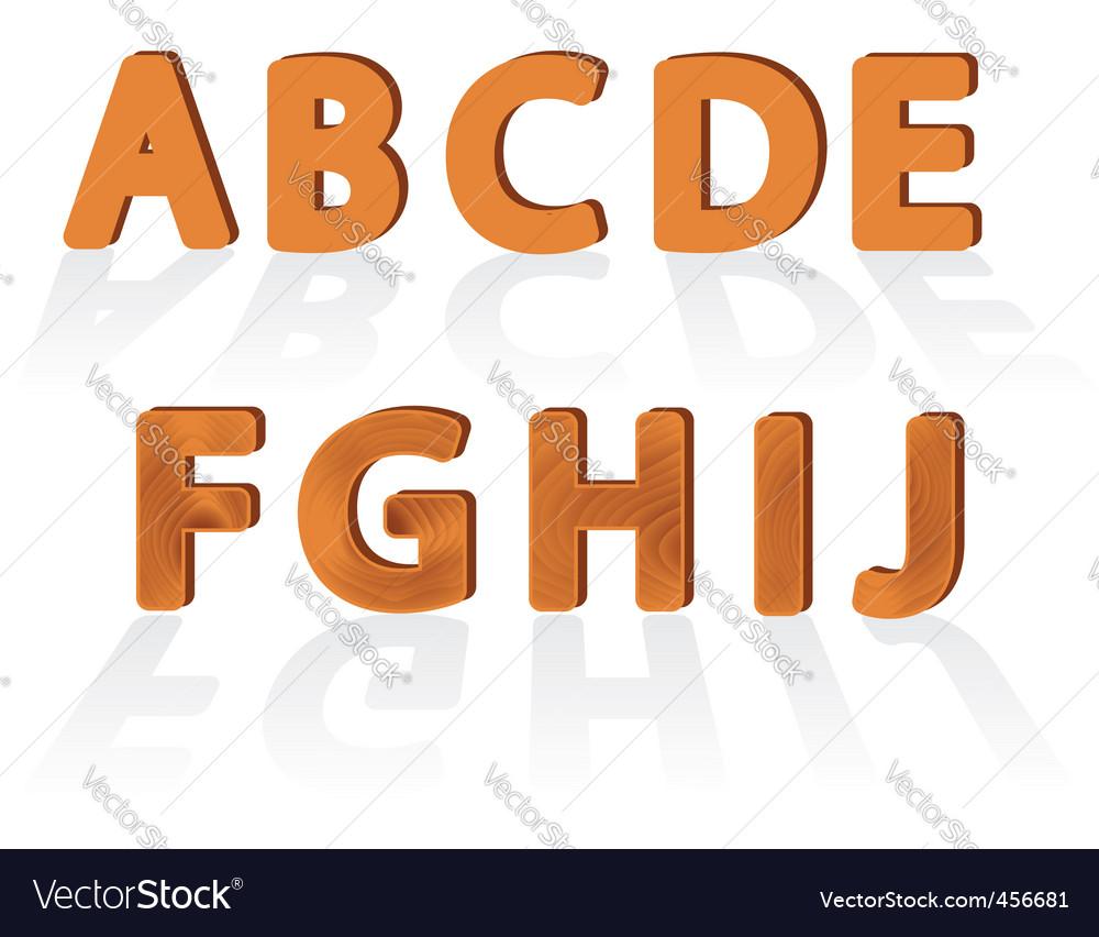 Wood grain fonts vector