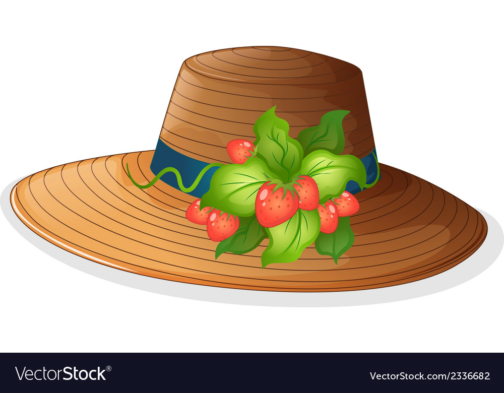 A hat with strawberries vector | Price: 1 Credit (USD $1)