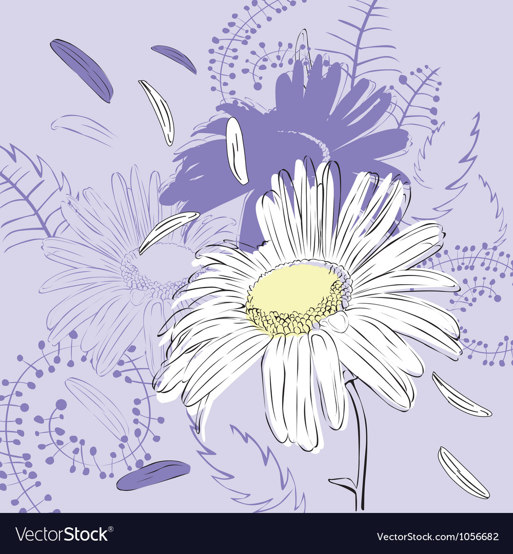 Abstract background with camomile vector | Price: 1 Credit (USD $1)