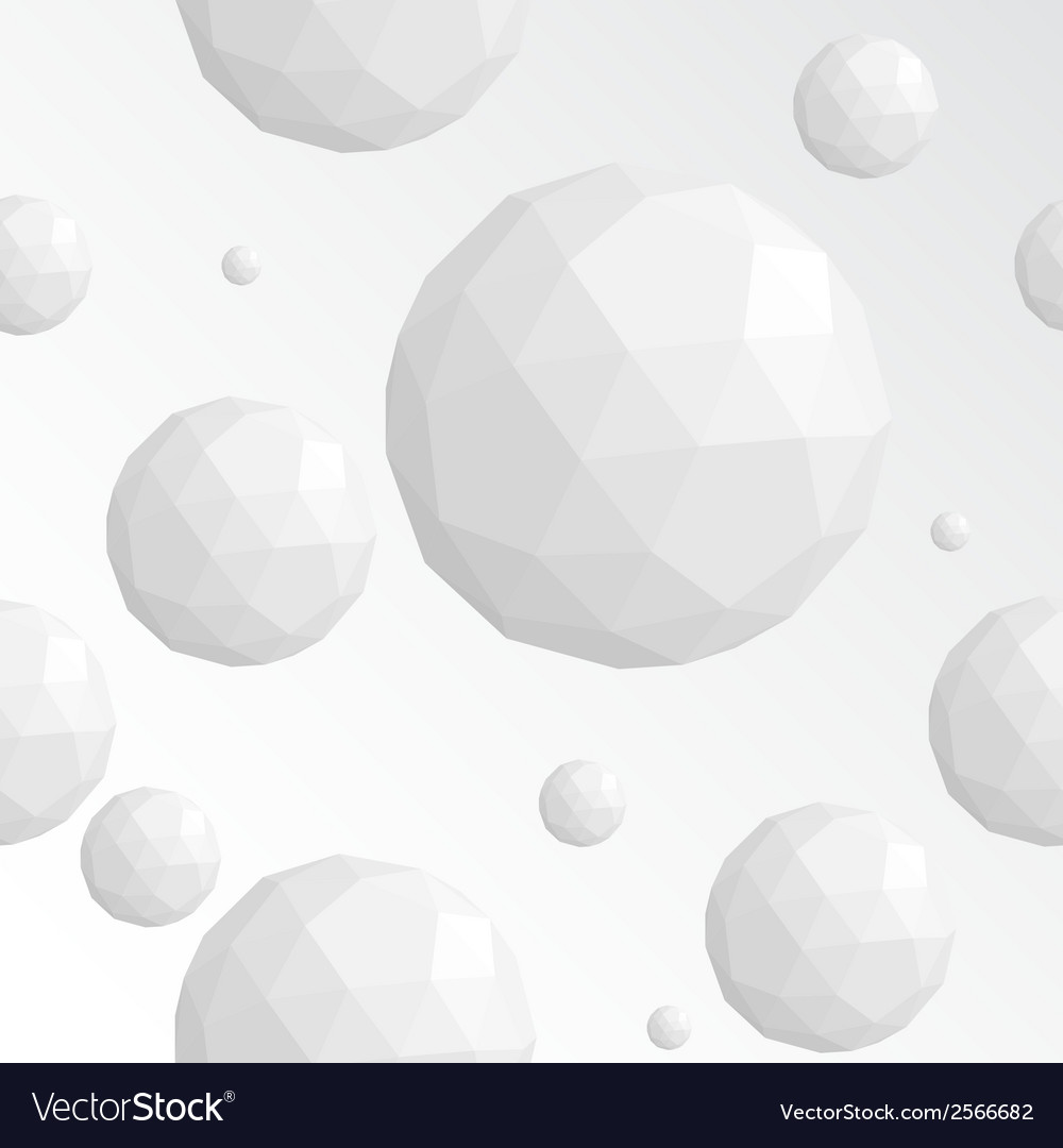 Abstract white sphere seamless pattern vector | Price: 1 Credit (USD $1)