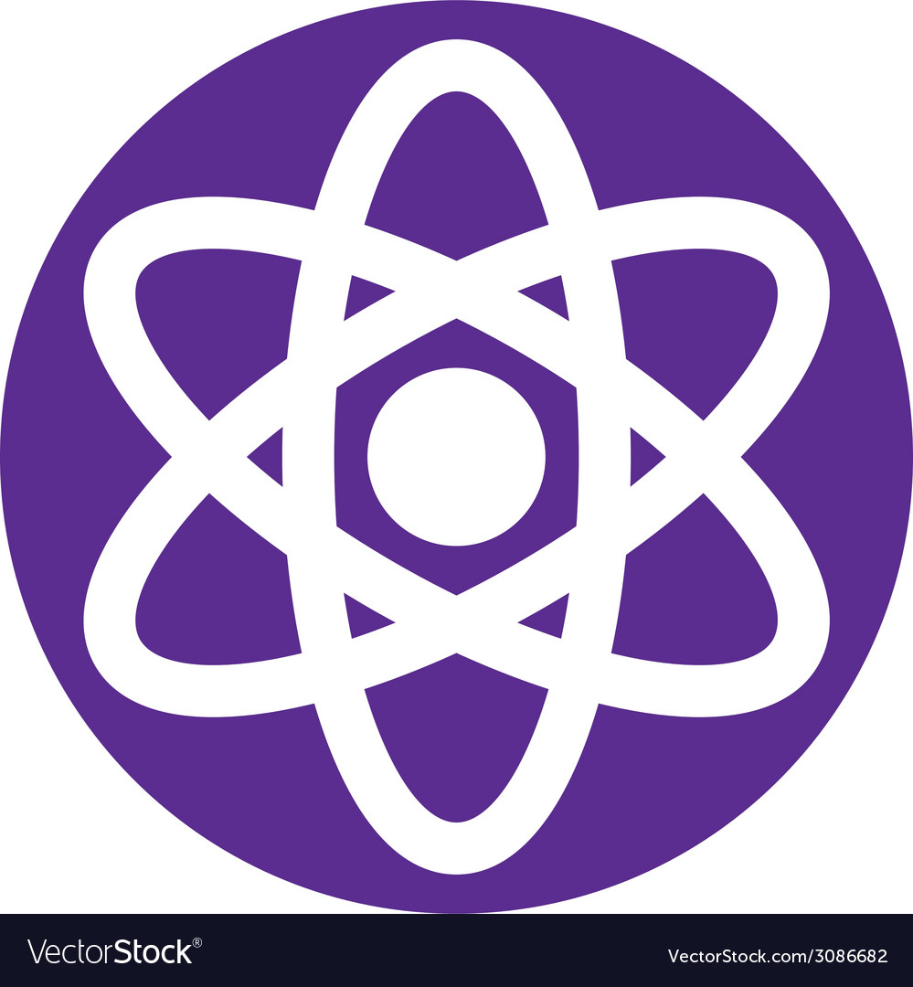 Atom symbol abstract icon symbol vector | Price: 1 Credit (USD $1)