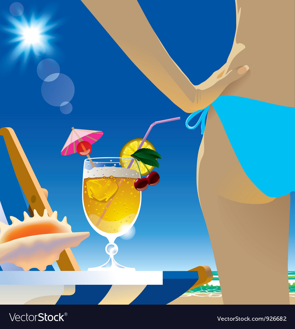 Beach cocktail vector | Price: 5 Credit (USD $5)