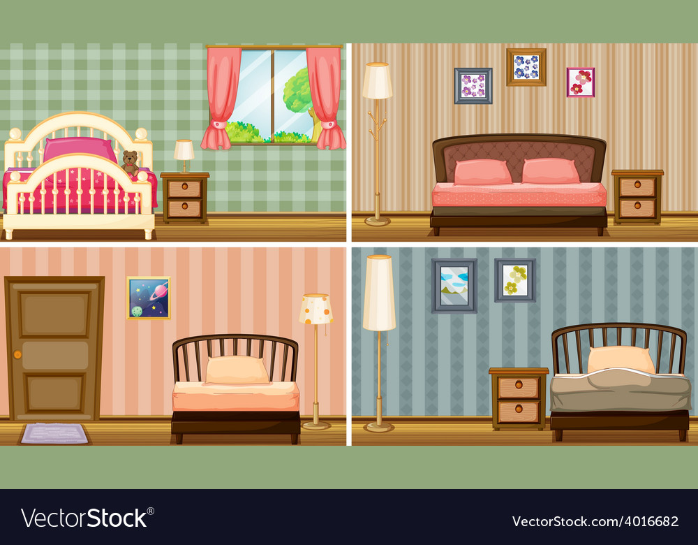 Bedrooms vector | Price: 3 Credit (USD $3)