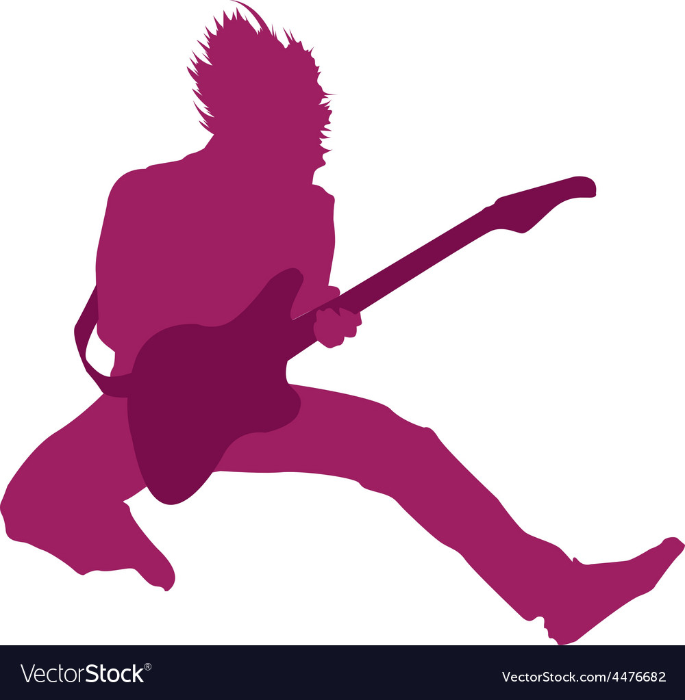 Cartoon rocker vector | Price: 1 Credit (USD $1)