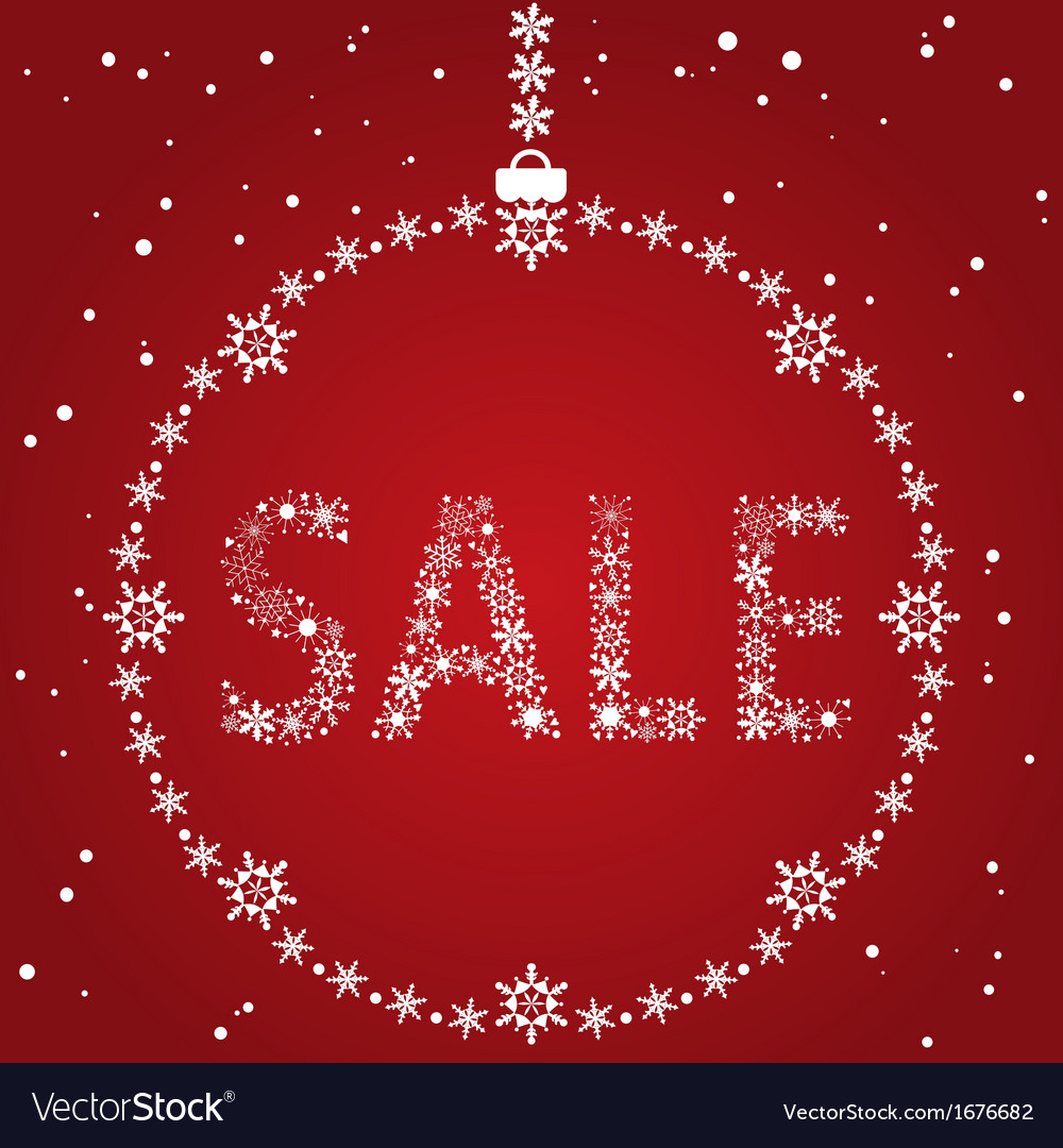 Christmas sale red design template vector | Price: 1 Credit (USD $1)