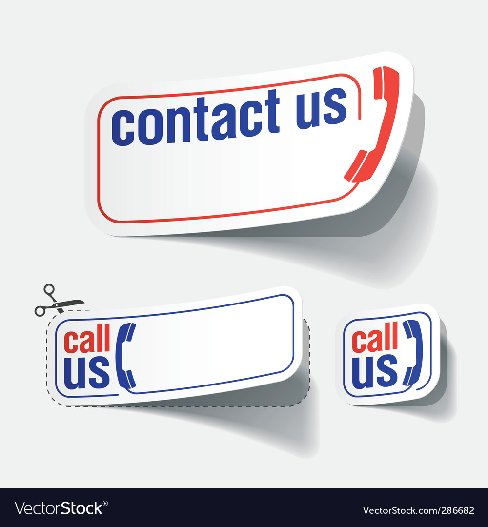 Contact labels vector | Price: 1 Credit (USD $1)
