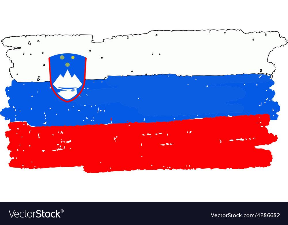 Flag of slovenia handmade vector | Price: 1 Credit (USD $1)