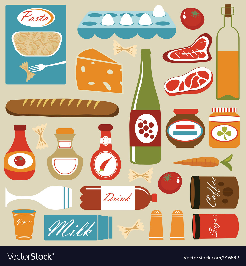 Food composition vector | Price: 1 Credit (USD $1)
