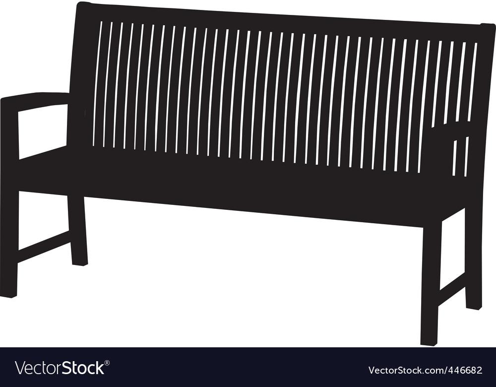 Garden bench vector | Price: 1 Credit (USD $1)