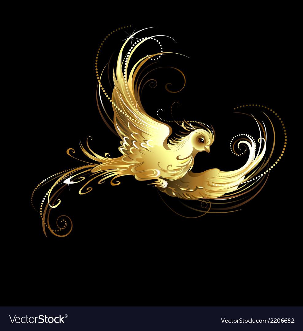Golden bird vector | Price: 1 Credit (USD $1)