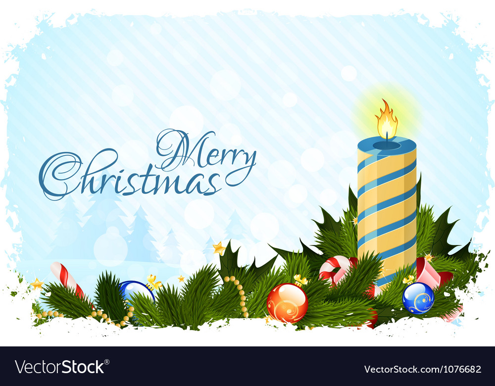 Grungy christmas card with decorations vector   Price: 3 Credit (USD $3)