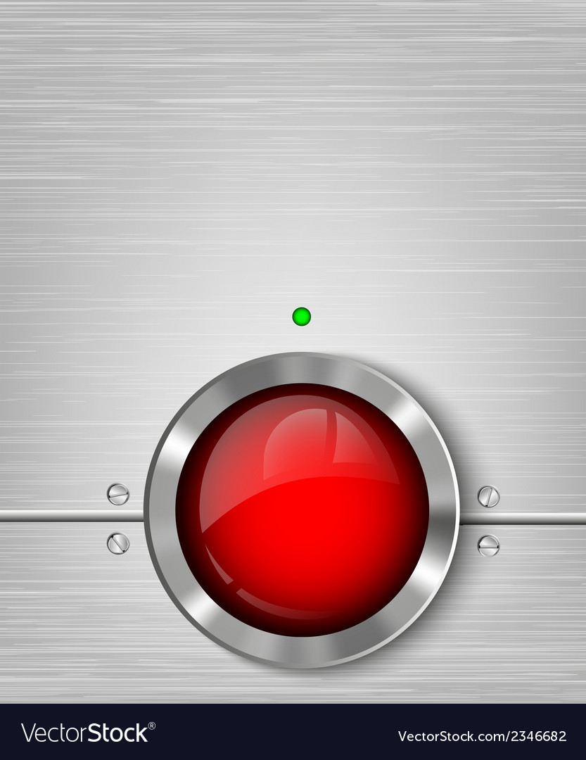 Metall background with power button vector | Price: 1 Credit (USD $1)
