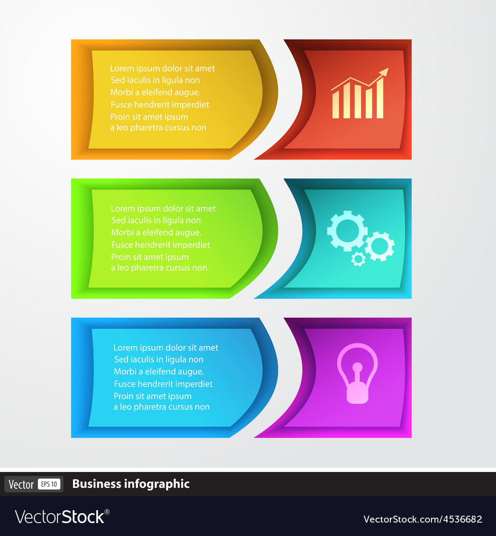 Modern design template infographics for business vector | Price: 1 Credit (USD $1)