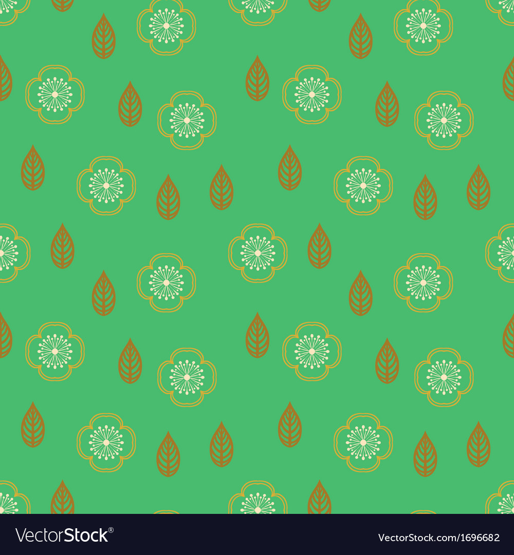 Pattern with stylized sakura flowers vector   Price: 1 Credit (USD $1)