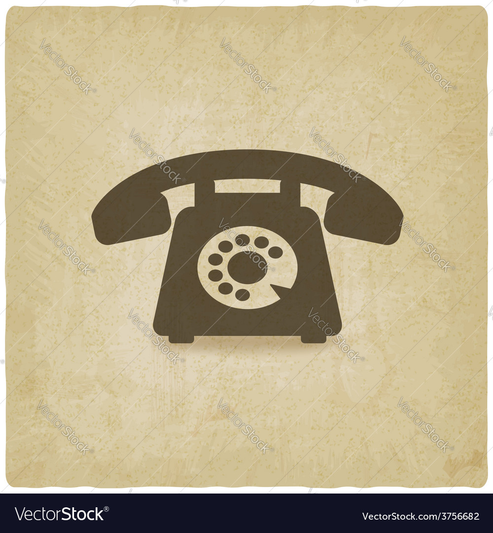 Retro phone old background vector | Price: 1 Credit (USD $1)