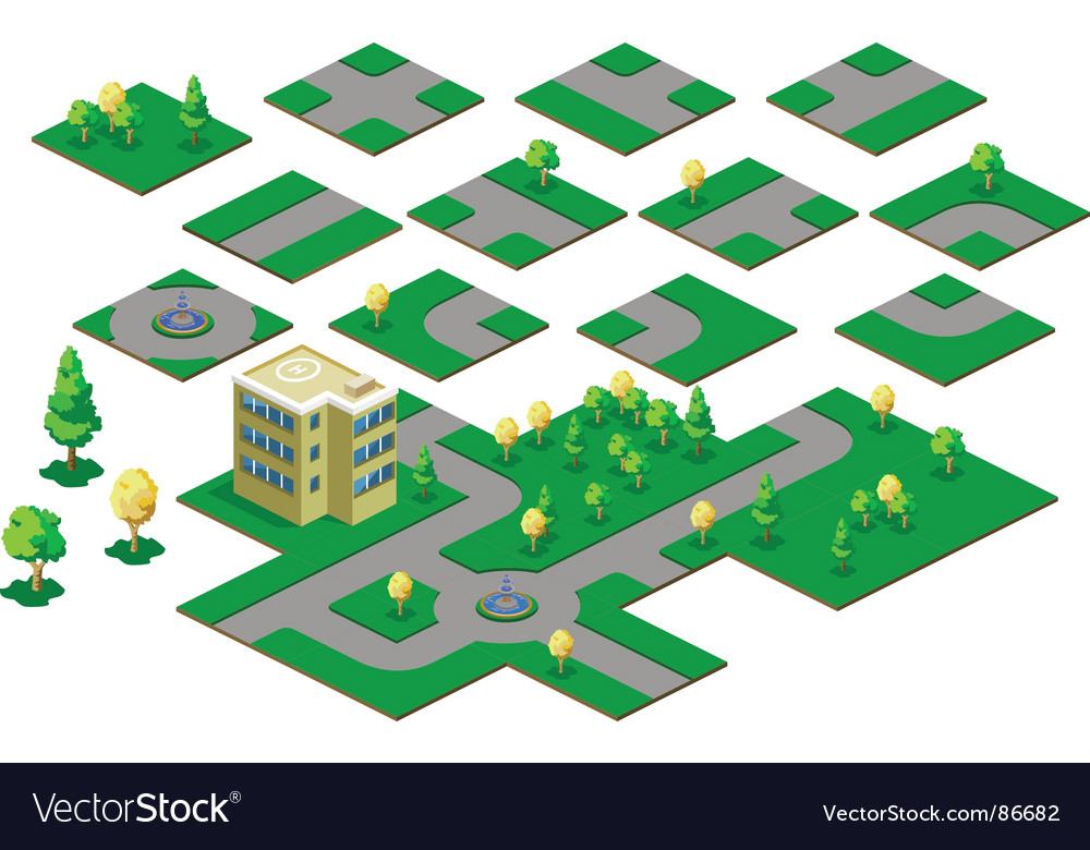 Roadway isometric vector | Price: 1 Credit (USD $1)
