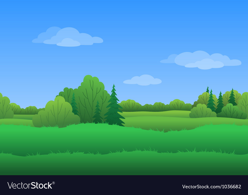 Seamless background summer landscape vector | Price: 1 Credit (USD $1)