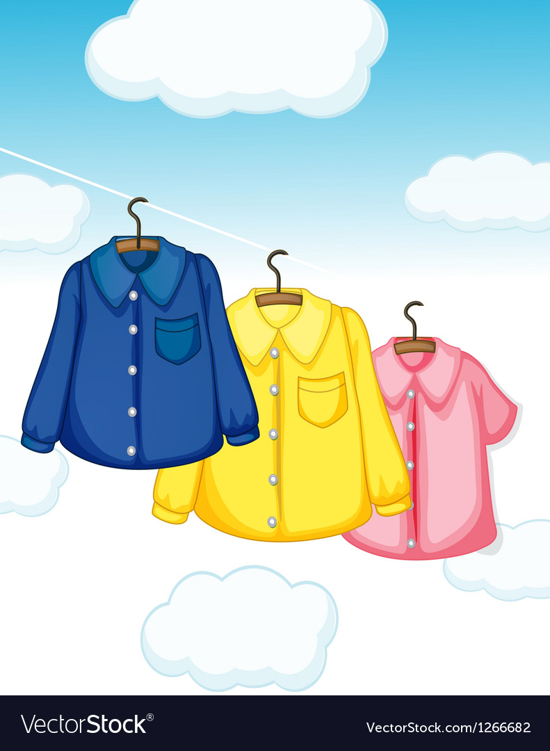 Three different kinds of clothes hanging vector | Price: 1 Credit (USD $1)