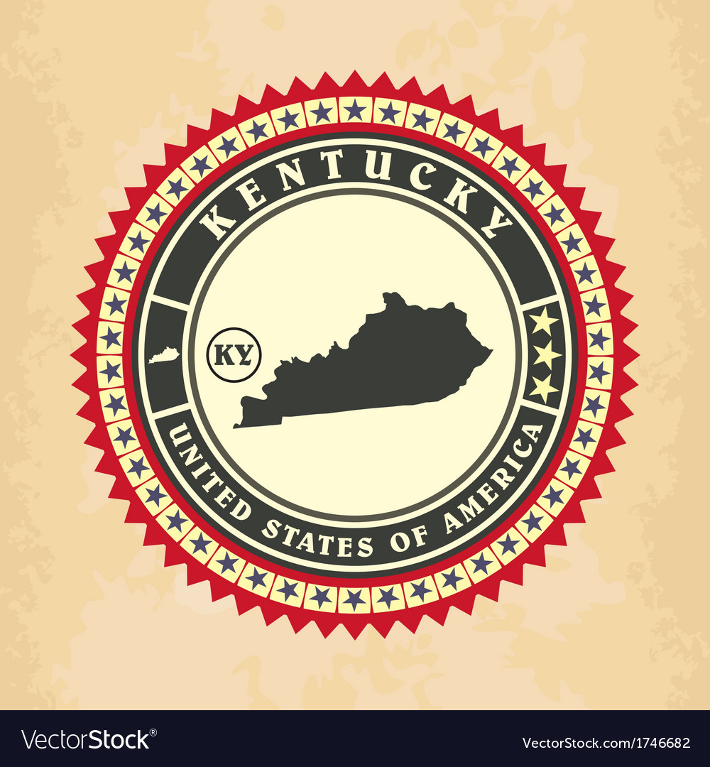 Vintage label-sticker cards of kentucky vector | Price: 1 Credit (USD $1)