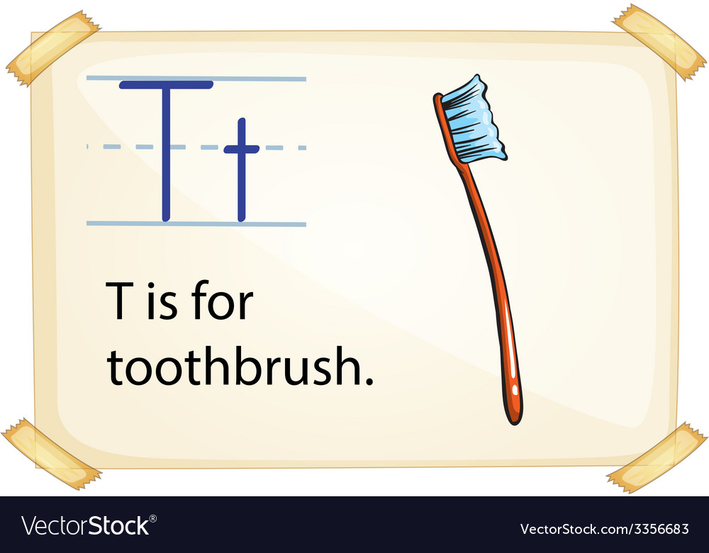 A letter t for toothbrush vector | Price: 3 Credit (USD $3)