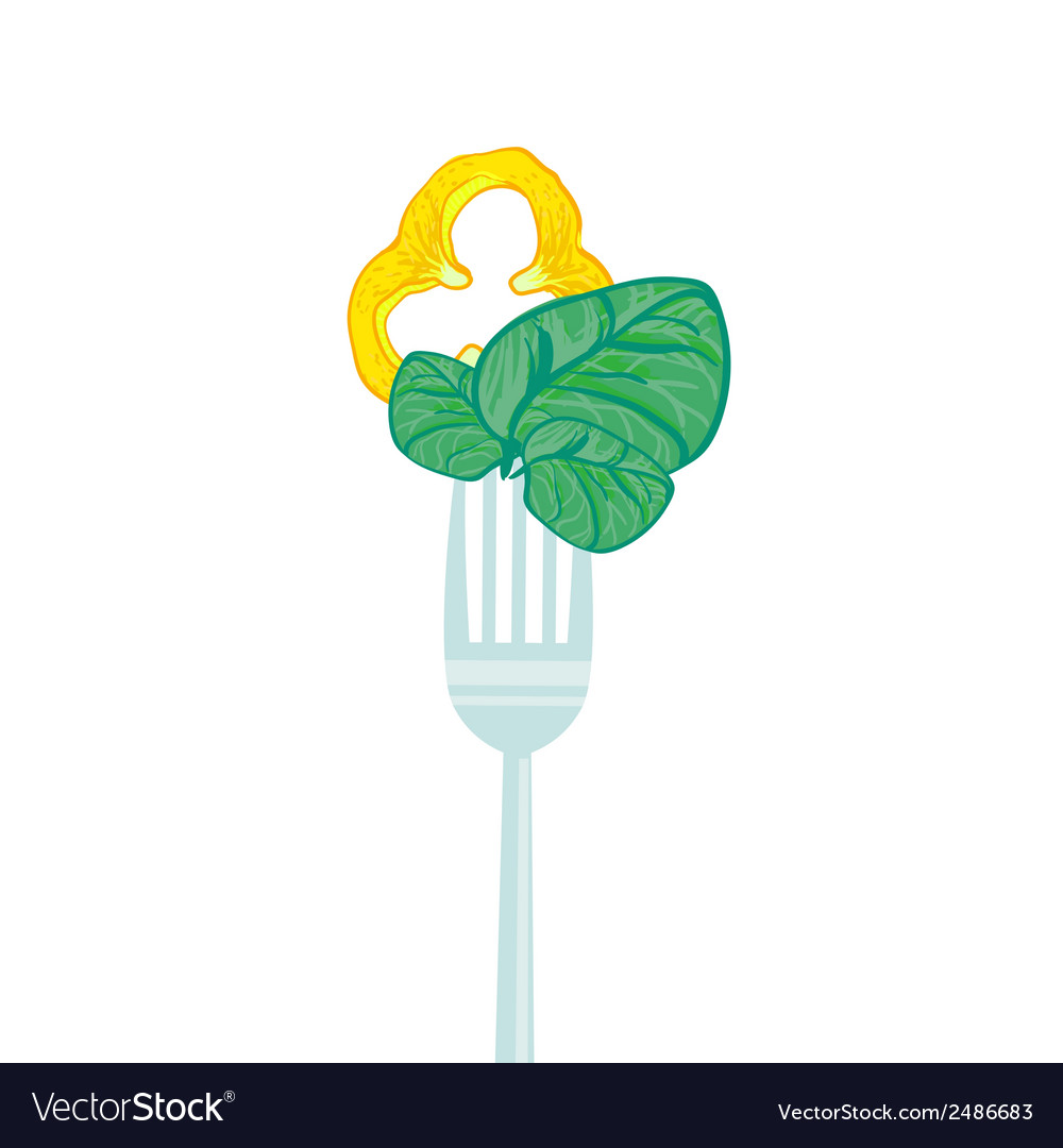 Concept vegetarian with forks vector | Price: 1 Credit (USD $1)