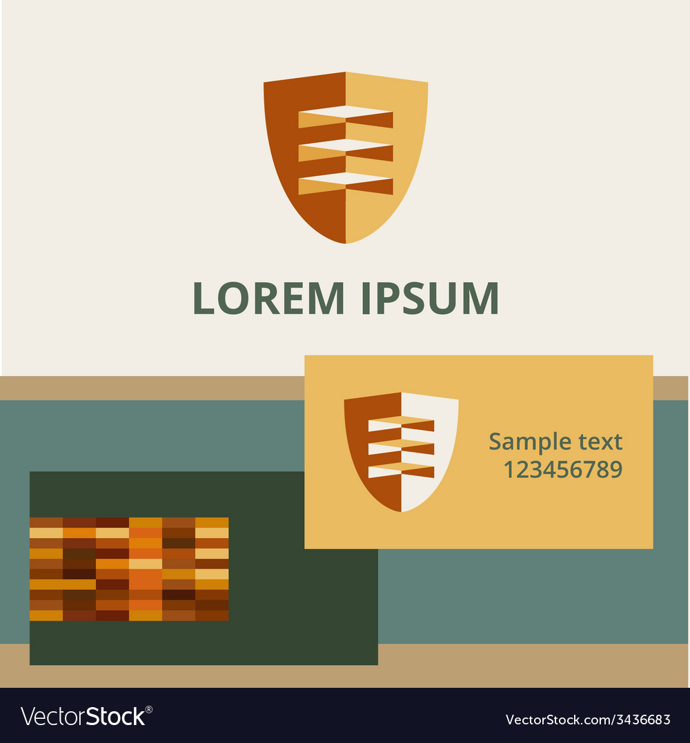 Editable template logo and brand elements vector | Price: 1 Credit (USD $1)