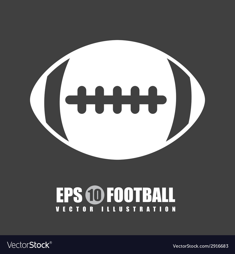 Football design vector | Price: 1 Credit (USD $1)