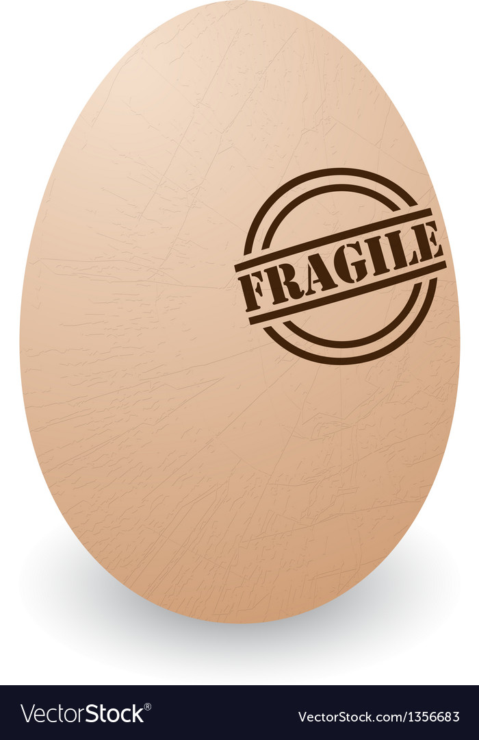 Fragile egg vector | Price: 1 Credit (USD $1)