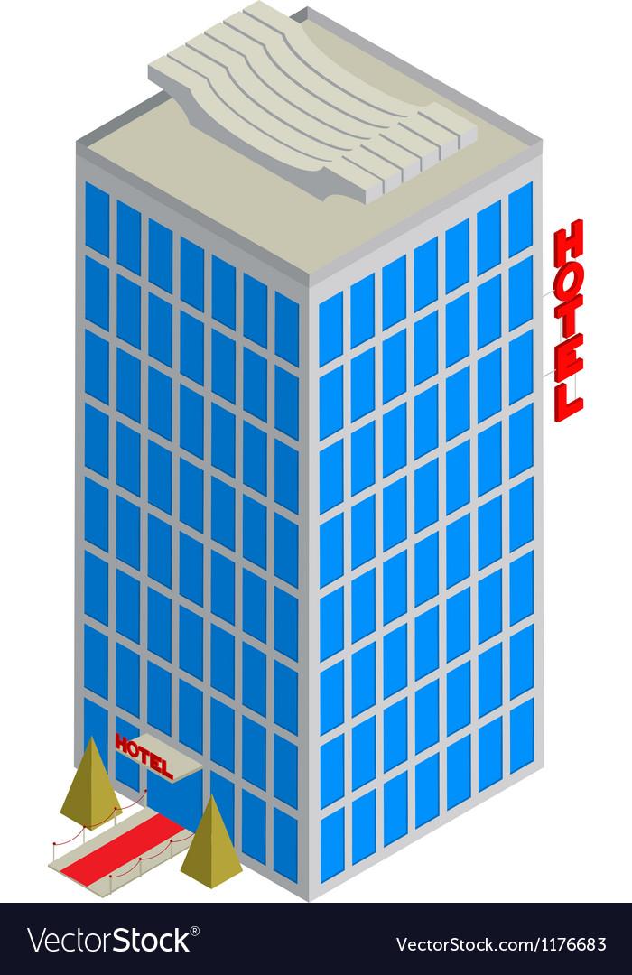 Isometric hotel icon vector | Price: 1 Credit (USD $1)