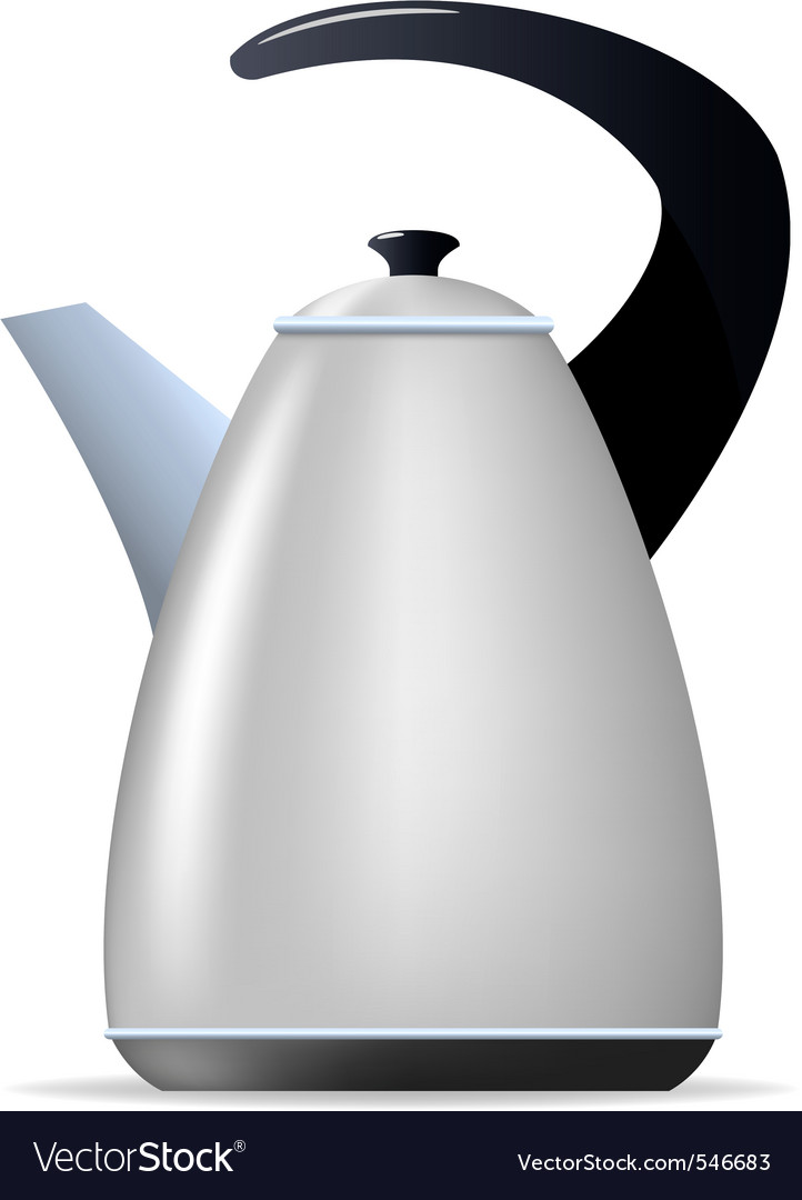Metal tea kettle vector | Price: 1 Credit (USD $1)