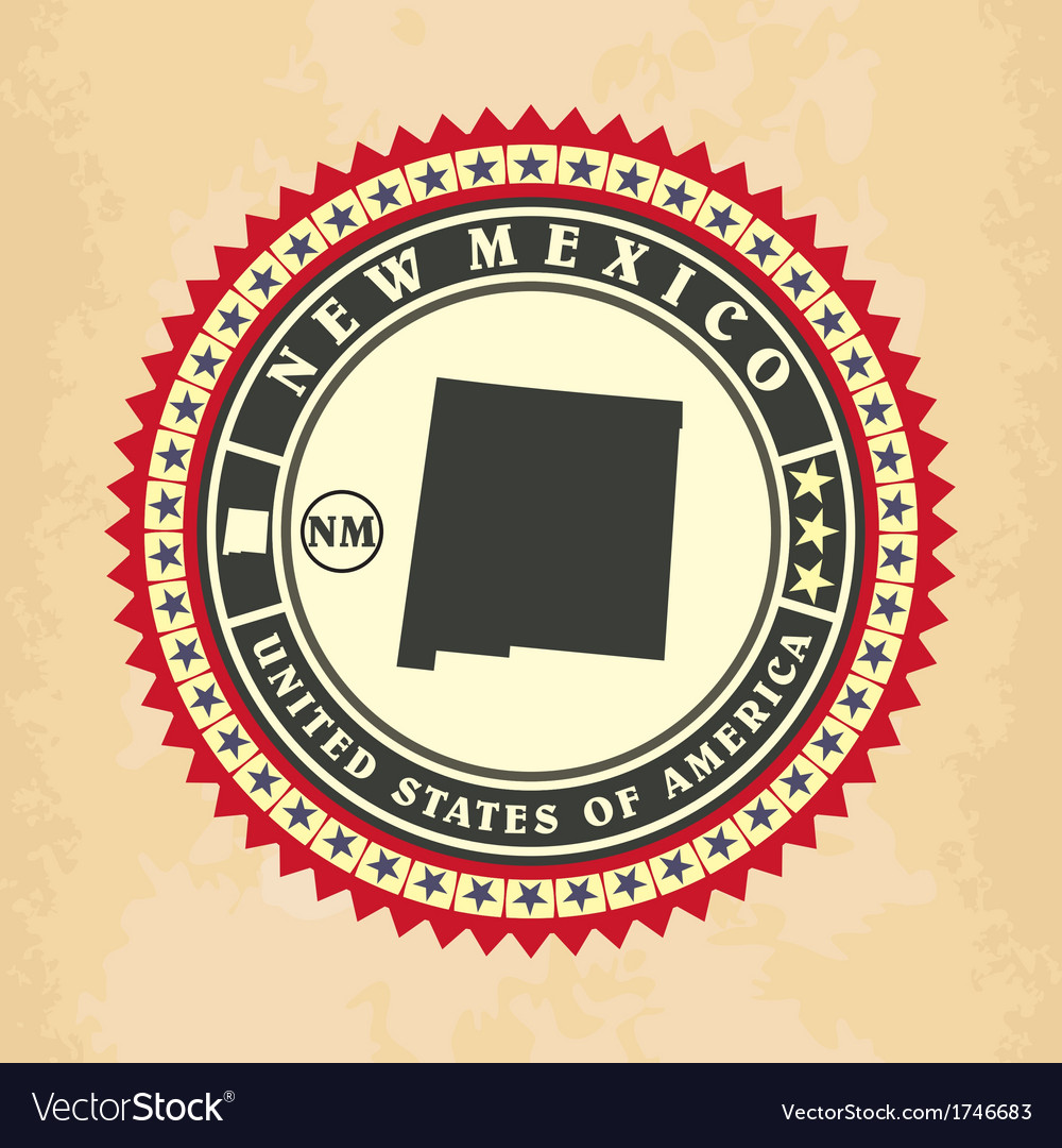 Vintage label-sticker cards of new mexico vector | Price: 1 Credit (USD $1)